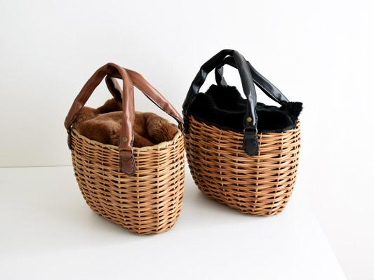 レッキスファーかぶせ小ぶりトートバッグ / ebagos